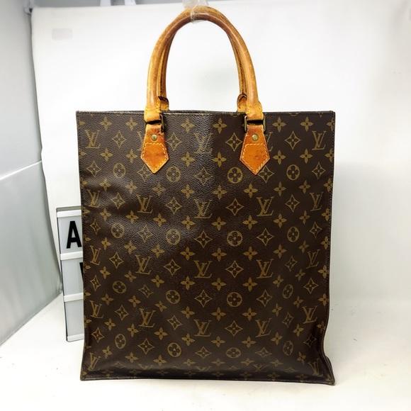 Louis Vuitton Handbags - Sold Louis Vuitton Sac Plat Monogram Top tote bag